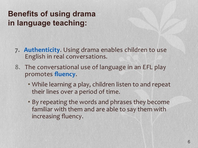 Drama In The Secondary Efl Classroom Powerpoint 6