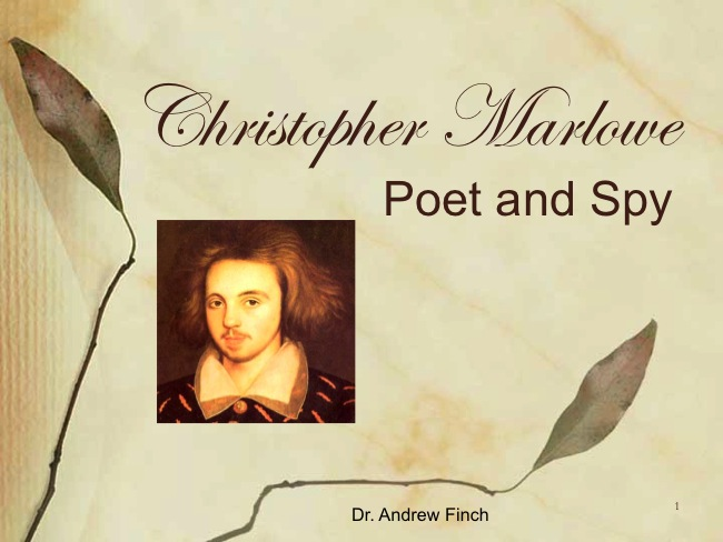Christopher Marlowe Powerpoint 1